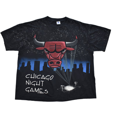 Vintage Chicago Bulls All Over Print T Shirt