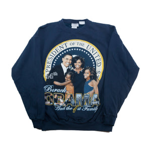 Vintage Obama Presidential Seal Sweater Navy