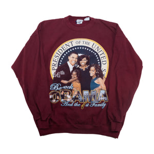 Vintage Obama Presidential Seal Sweater Maroon