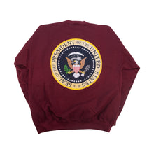 Load image into Gallery viewer, Vintage Obama Presidential Seal Sweater Maroon