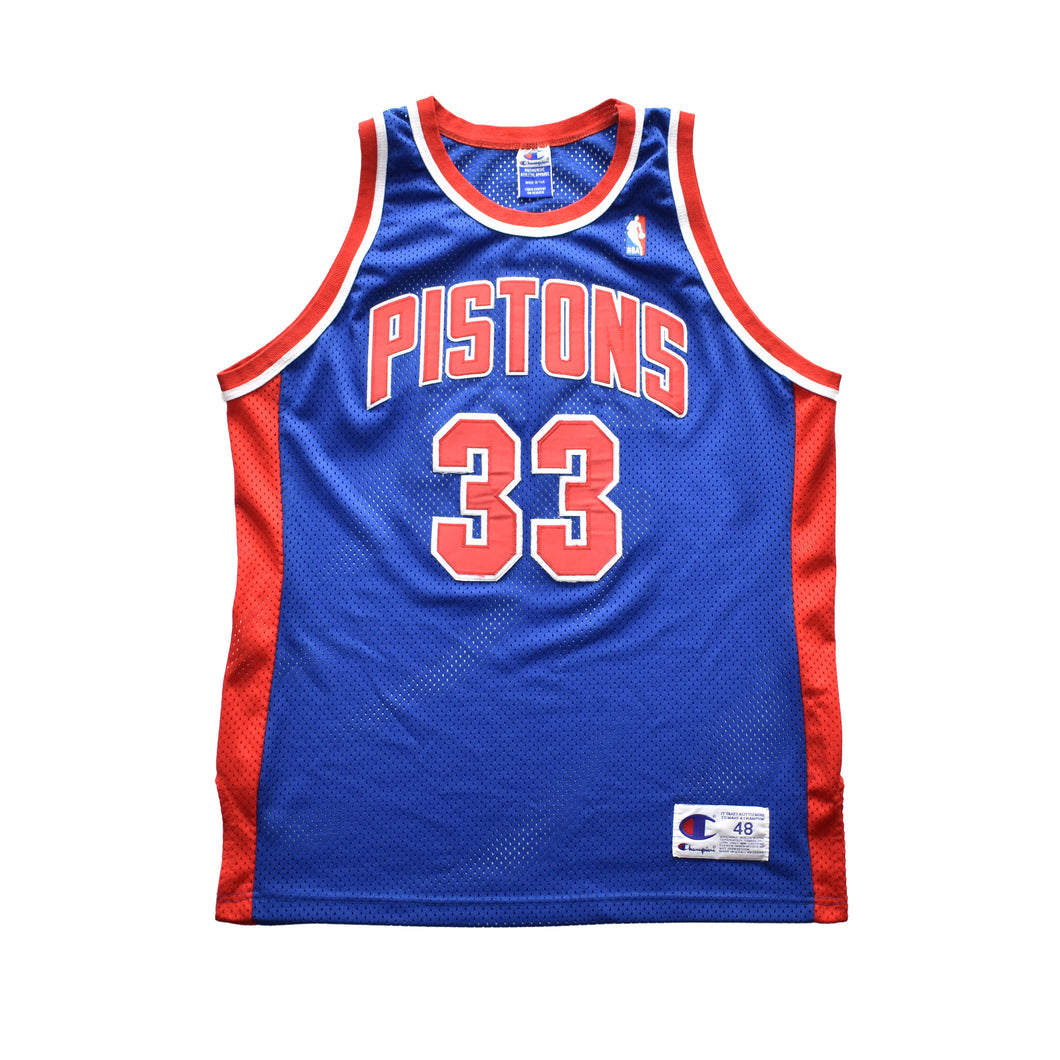 Vintage Grant Hill Pistons Authentic Champion Jersey - 48