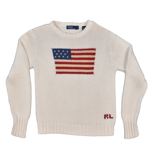Vintage Polo Flag Knit Sweater