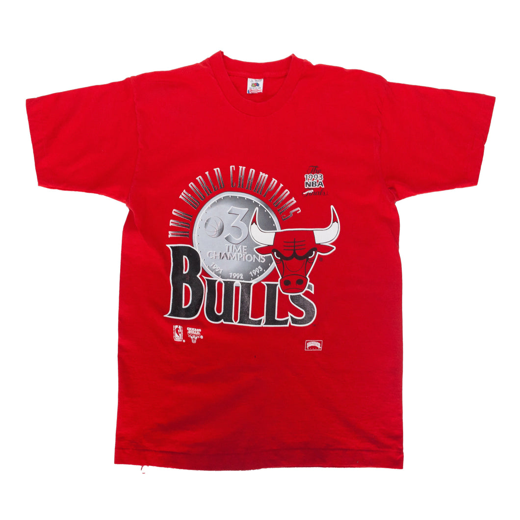 Vintage Chicago Bulls 3 Time Champs Tee