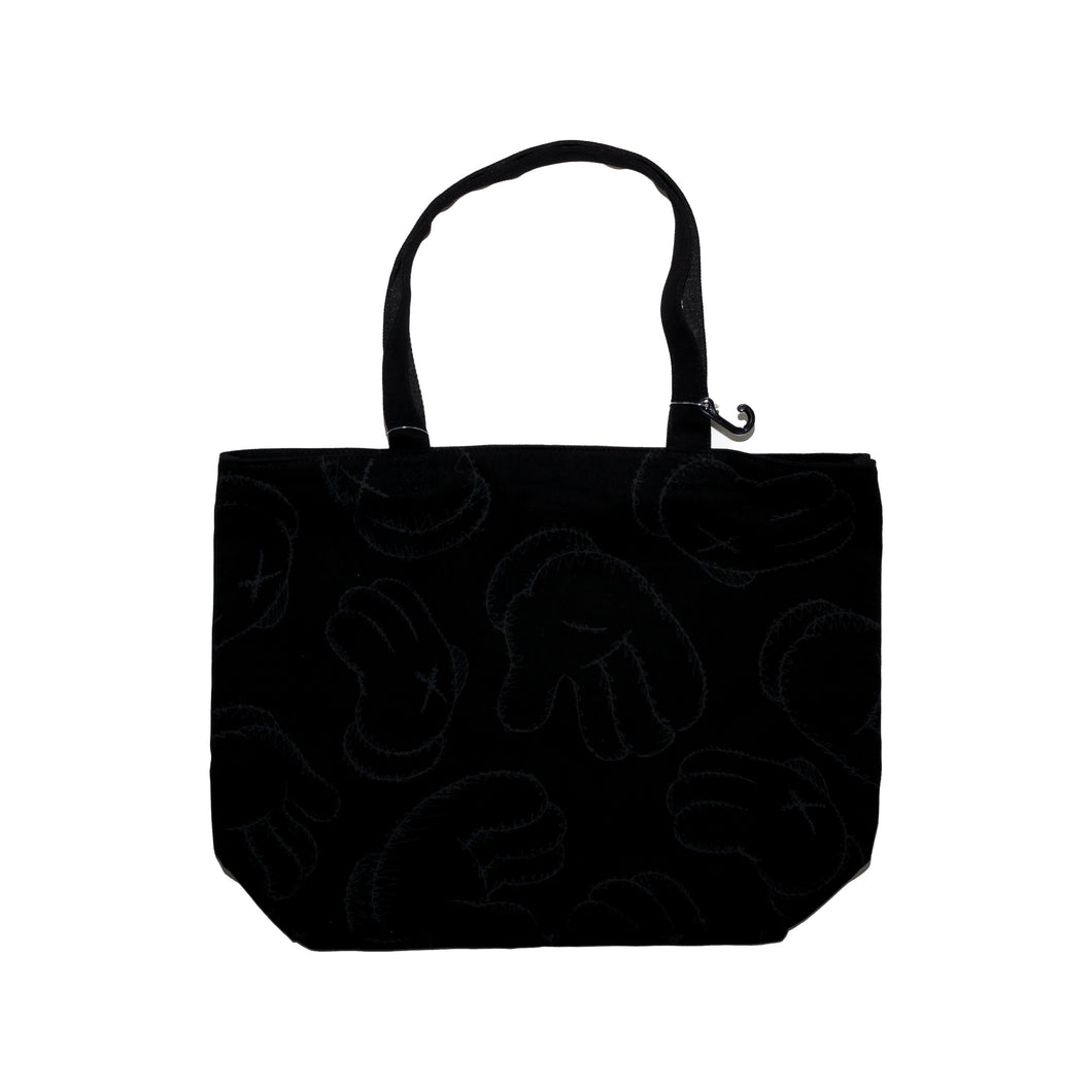 KAWS All Over Print Black Tote Bag