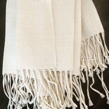Load image into Gallery viewer, Baby Alpaca Shawl - White