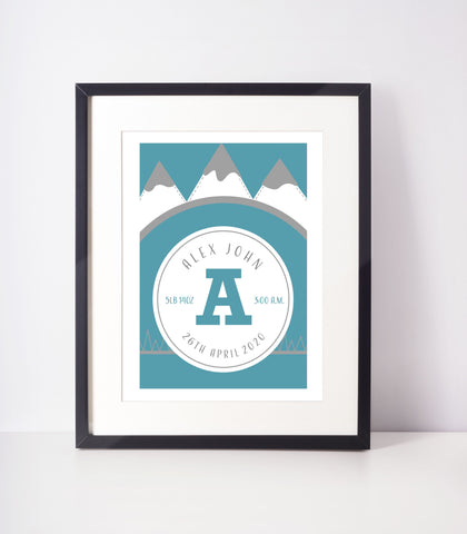 Let the Adventures Begin - Personalised Print | Teal