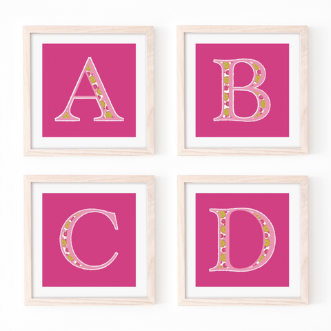 Cute as a Button Monogram - Pink