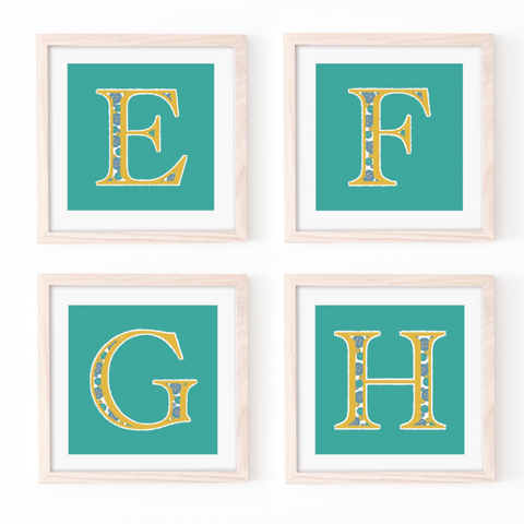 Cute as a Button Monogram - Teal