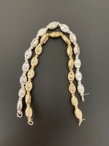 1 Strand of Decorative Gold Finish Silver Plated Beads, E-coated, Handmade, (about 15 Bead on a strand) Size: 10mm
