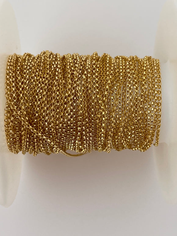 14K  Real Gold Filled 3ft. Rolo  Chain Size: 1.1mm  #CHN7GF