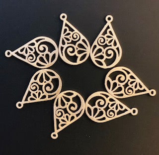 8Pcs. Gold Finish and  Silver Plated  Finding /Charm E-coated, Brushed Finish, Copper Findings, PENDENT .