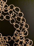 3 Feet of Copper Chain Oval And Circle  Shape, Patterned Chain,  Choice of 2 colors: Gold Finish and Silver Plated  E-coated Chain: Puritybeads