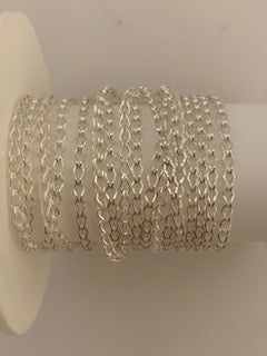 3 Feet Of Sterling Silver Clip Chain Size: 1mmX8mm #96Sterling Silver