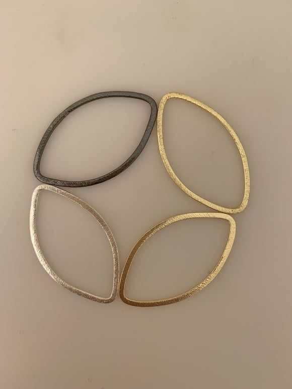 Marquis Shape Findings Available Three Color Gold Plated/Silver Plated And Gunmetal Size :44mmX28m.