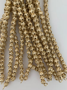 1 Strand of Fancy  Shiny Round Gold Finish,Brushed Finished Round  Beads , E-coated Beads. Bead Size is: 8mm(27 Bead In Strand) NO-76