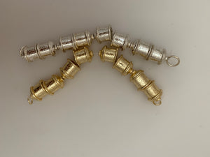 1 Strand of End Caps, in Gold Finish Silver Plated  Fancy End Cap E-Coated, End Cap. Size: 12X12mm (inside size is 8mm)