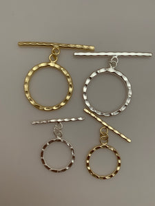 Toggles, Silver Plated, Gold Finish, E-Coated, Hammered, Size 39X34mm, Bar Size 55mmX3mm.