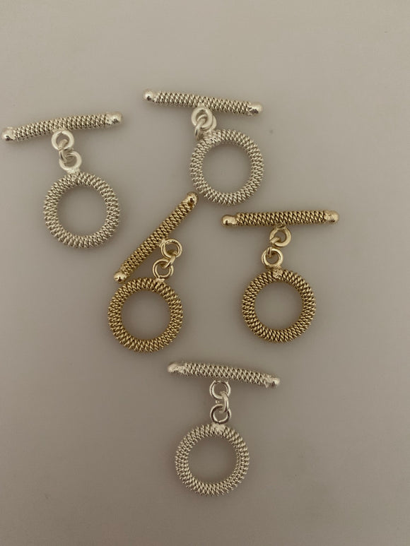 Toggle Gold Finish or Silver Plated,  E-coated, Handmade Toggles # G1001. | Purity Beads.
