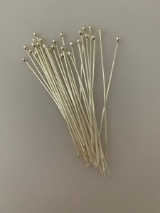"Sterling Silver Ball Head Pin,925 sterling silver Headpin Available Three Size 2"",2.5"",3"""