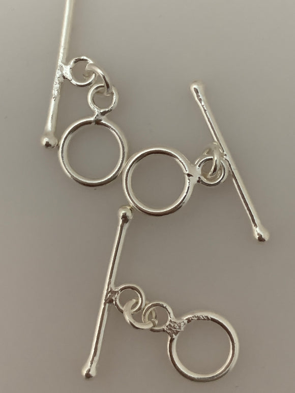 5 Pcs A Pack of Sterling Silver Toggle /Claps Size :9mm  T-6SS