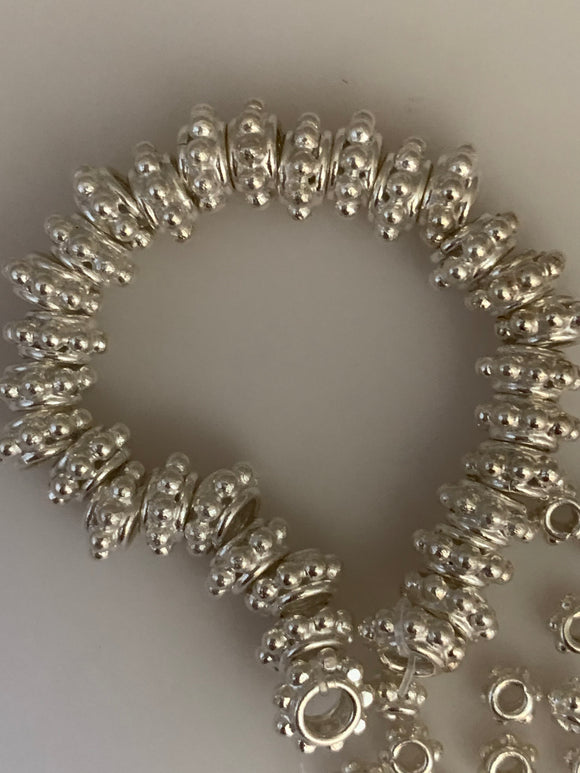 Fancy Sterling Silver Bead Available 3 Size 4mm 6mm ,7mm