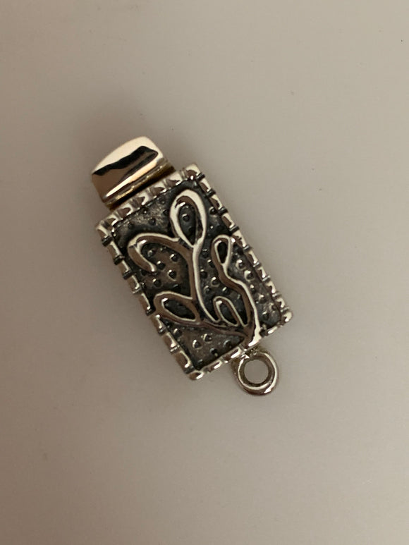 Sterling Silver one Pcs Claps Size:23mmX10mm C-7SS