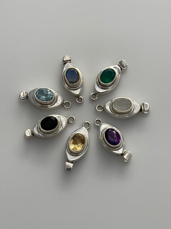 Sterling Silver Magnet  Clasp Choice Of your Gemstone Clasp Size:27mmX11mm C-11SS