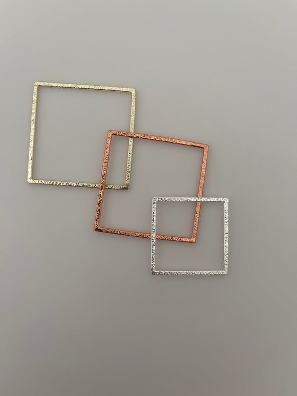 Gold Finish Silver Plated And Solid Copper Square  Brushed Finish Blanks E-coated Handmade Available Three color and three size