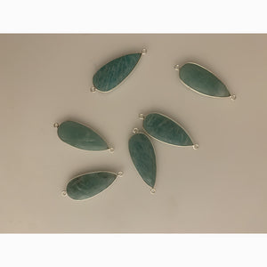 Amazonite laced with Sterling Silver 925 Natural Pear Shape. #KE-141. | Purity Beads.