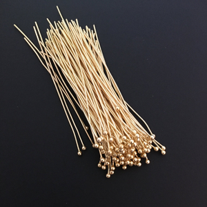 Ball Head Pins (Gold Finished/Silver Plated) | Purity Beads