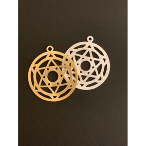 Chakra Shaped Finding(Gold Finished/Silver Plated) | Purity Beads