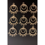 Chandelier (Designers) Earring Hooks (Gold Finish/Silver Plated) | Purity Beads.