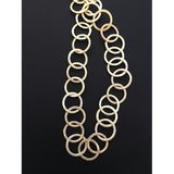 Circle Chain/Round (Gold Finish,Copper And Gun Metal, Silver Plated) Round shaped Brushed Finish, E-coated Chain | Purity Beads