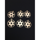 Circle with Star (Gold Finished/Silver Plated) | Purity Beads