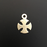 Curved Iron Cross (Gold Finished/Silver Plated) | Purity Beads