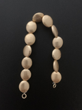 One Strand  Lentil Beads 16mmX14mm Gold Finish And Silver Plated Brushed Finish E-coated Beads.