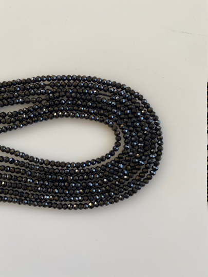 A lot of 5 strands of Black Spinel. AAA Quality, 13