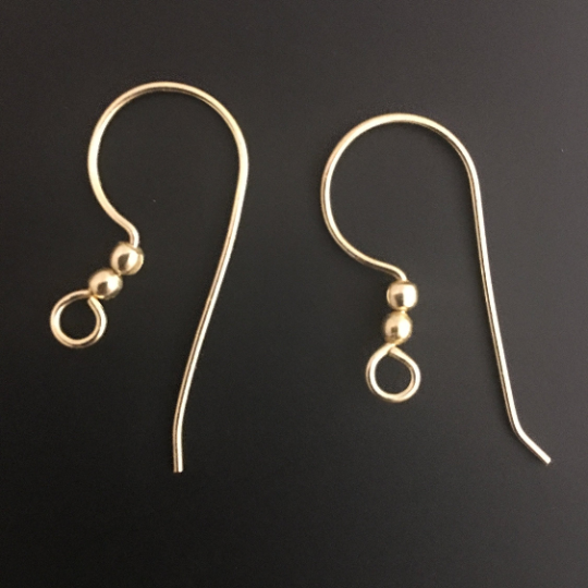 Ear wire Gold Finish, Silver plated, or Copper Ear Wire  E-Coated, Findings, Ear wires | Purity Beads