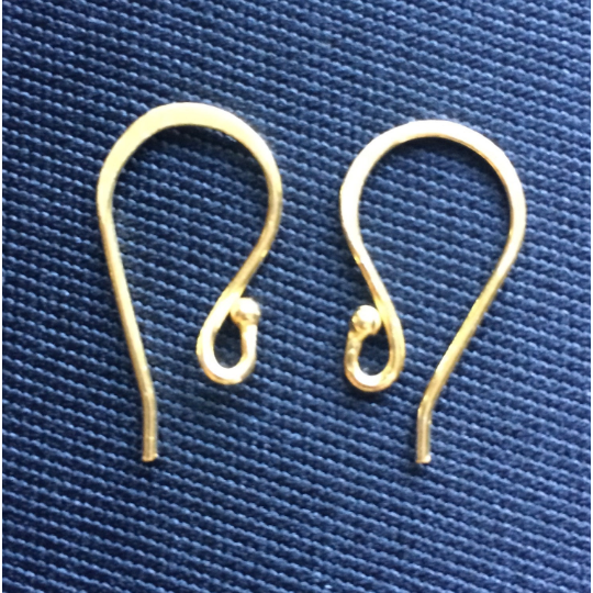 Ear wire Gold Finish, Silver Plated, or Gun Metal E-Coated, Hammered Ear wires, Findings, Metal Ear-wires | Purity Beads