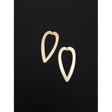 Elongated Hollow Heart Shaped Jewelry Components (Gold Plated/Silver Plated) | Purity Beads