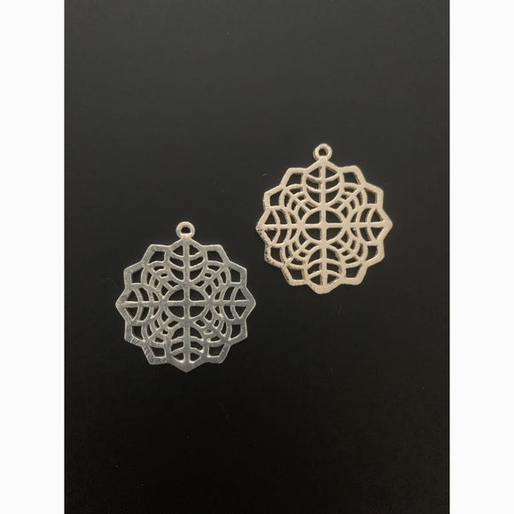 Fancy Pendent/Charm Gold Finish, Silver Plated or Copper -  E-coated, Brushed Finish. | Purity Beads