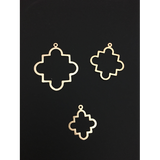 Findings Quatrefoils (Gold Finished/Silver Plated) | Purity Beads