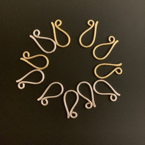 Hammered S Hooks (Gold Plated/Silver Plated) | Purity Beads