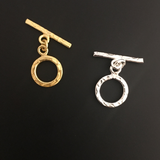 Hammered Toggles (Gold Plated/Silver Plated) | Purity Beads