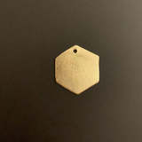 Hexagon Shaped Component (Gold Finished/Silver Plated) | Purity Beads