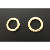 Hoop/Ring/Loop (Designers) (Gold Finish) | Purity Beads.