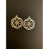 One pack of Gold Finish or Silver plated charm.  E-coated, Brushed Finish, Findings/Charm /Pendent (45mmX39mm With Loop) .