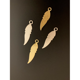 Leaf Charm/Pendent (Gold Plated/Silver Plated) | Purity Beads