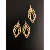 Leaf Shaped Findings (Gold Finished/Silver Plated) | Purity Beads