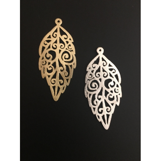 Leaf Shaped Pendant (Gold Finished/Silver Plated) | Purity Beads